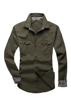 Newchic Long Sleeve Cargo Shirts For Men