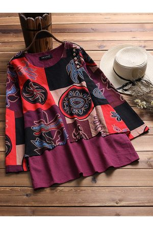 9ad3fad95a138 Newchic Women Blouses - Printed Women Two Layers Blouses