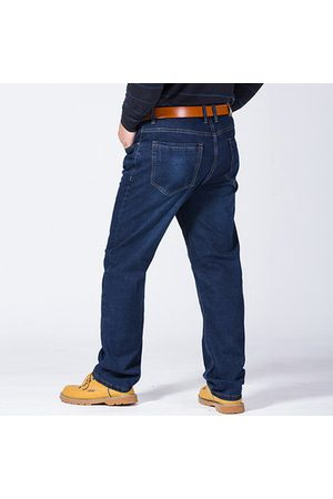 Newchic Men Jeans - 32-48 High Elastic Fat Jeans