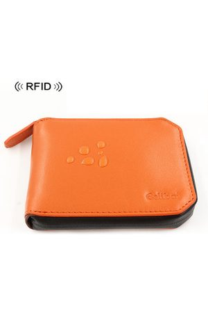 Newchic Men Wallets - RFID Antimagnetic Waterproof Genuine Leather Wallet 6 Card Slots Key Holder For Men