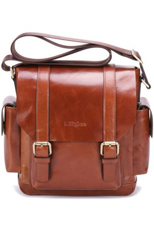 Newchic Ekphero Genuine Leather Messenger Business Crossbody Bag