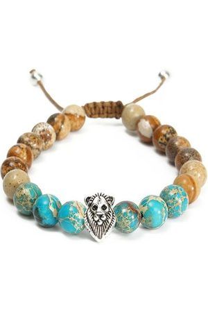 Newchic 8mm Lion Head Beaded Bracelet