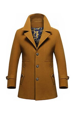 Newchic Men Trench Coats - Mens Fashion Casual Mid-long thicken Trench Coat