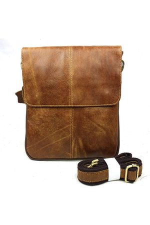 Newchic Men Laptop Bags - Men Business Casual Genuine Real Leather Retro Shoulder Crossbody Bag