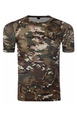 Newchic Summer Mens Tees Army Sports Tactical Camo Slim Fit Crew Neck Short Sleeved T-shirts