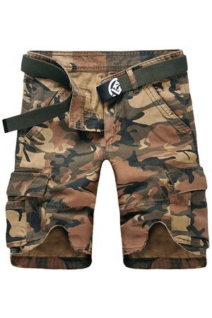 Newchic Summer Loose Camouflage Multi-Pocket Cotton Cargo Shorts Casual Shorts For Men