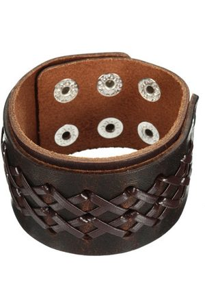 Newchic Men Bracelets & Bangles - Punk Wide Leather Bracelets