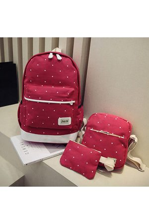 Newchic 3PCS Canvas Backpack Set Casual Large Capacity School Bag