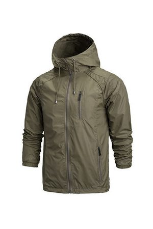 Newchic Men Outdoor Jackets - Lightweight Hooded Windproof Outdoor Jacket