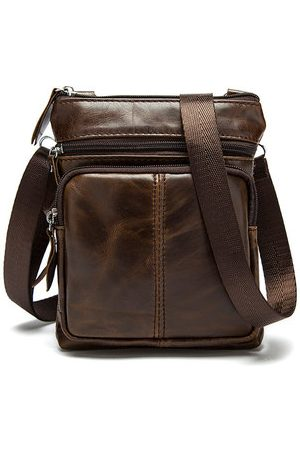 Newchic Business Men Genuine Leather Crossbody Bag