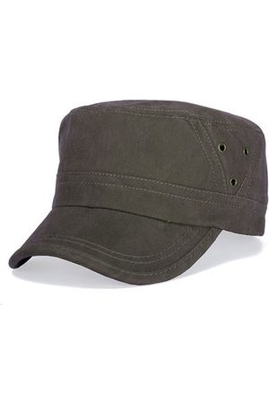 Newchic Men Hats - Men Vintage Washed Cotton Flat Top Cap