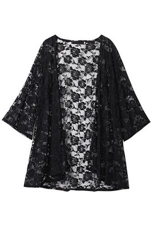 Newchic O-NEWE Sexy Lace Embroidery Long Sleeves Beach Cardigans