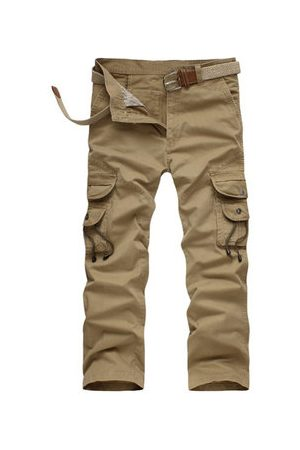 Newchic Casual Loose Long Trousers Cotton Multi Pockets Army Military Cargo Pants For Men