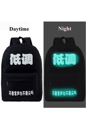 Newchic Men Women Cool Creative Fluorescent Black School Bag Backpacks