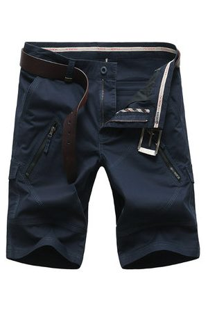 Newchic Casual Multi Pocket Cargo Shorts Straight Leg Plus Size Pants For Men