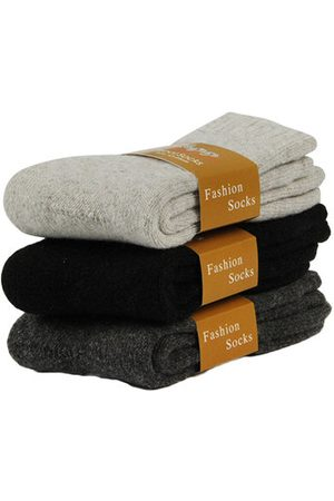 Newchic Thick Wool Warm Deodorant Sweat-Absorbent Anti-Friction Middle Tube Socks for Men