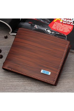 Newchic Men Short Business PU Leather Wallet Durable Card Holder