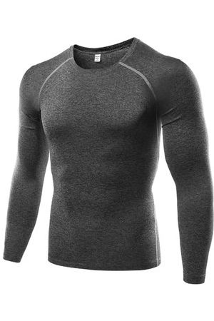 Newchic Men Long Sleeve - Training Bodybuilding Tops Quick-drying Elastic Tight Long Sleeve T-shirt For Men