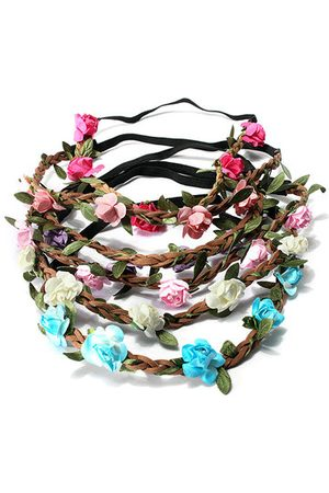 Newchic Women Bride Wedding Crown Boho Rose Flower Floral Wreaths Girls Hair Band
