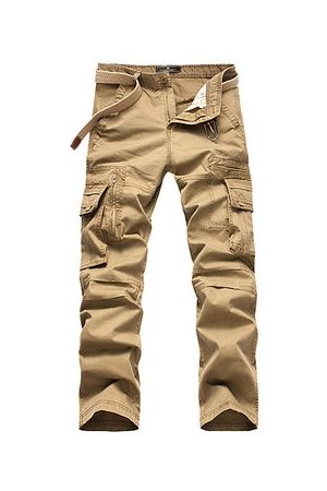 Newchic Mens Multi-pocket Cotton Cargo Pants
