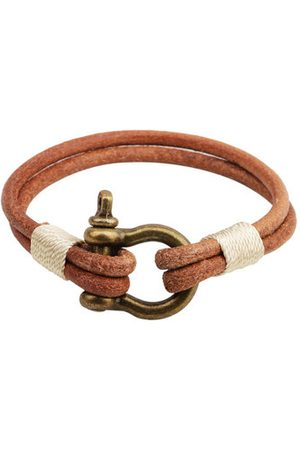Newchic Men Bracelets & Bangles - Simple Men Bracelet Leather Alloy Lock Bracelet Gift