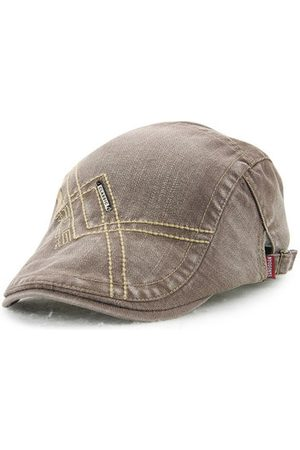 Newchic Men Denim Washing Beret Cap Casual Outdoor Sun Visor Hat