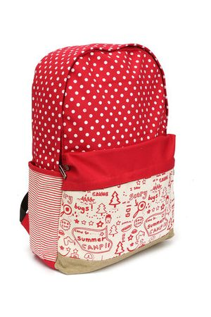 Newchic Women Rucksacks - Women Canvas Hiking Backpack Cute Casual Shoulder School Bag