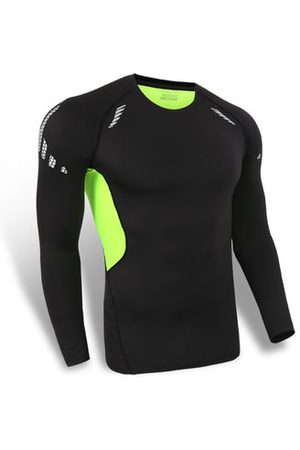Newchic Bodybuilding Breathable Tops Quick-drying Elastic Tight Long Sleeve Sport T-shirt For Men