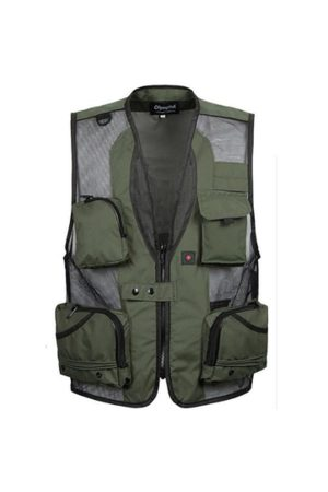 Newchic Men Waistcoats - Outdoor Mesh Quick-Drying Multi-Pockets Fishing Photographic Loose Waistcoat For Men