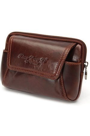Newchic Men Phone Cases - Men Cowhide Leather Waist Bag Cell Phone Case Wallet
