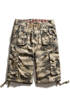 Newchic Men Cargo Pants - Summer Casual Camouflage Multi-Pocket Cotton Loose Fit Plus Size Cargo Shorts For Men