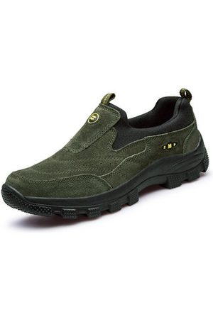 Newchic Men Shoes - Leather Sport Running Outdoor Slip On Casual Athletic Hiking Sneakers