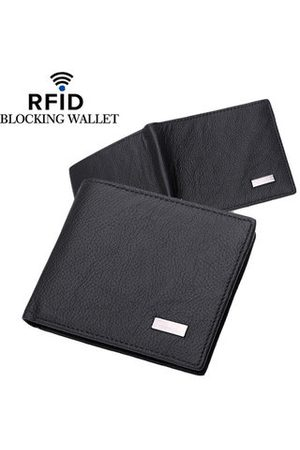 Newchic Men Wallets - RFID Antimagnetic Wallet Genuine Leather 3 Card Holders Coin Bag For Man