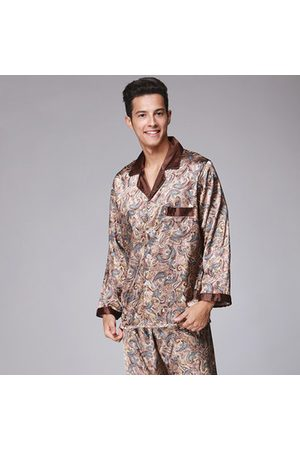 Newchic Silk-like Turn-Down Collar Pajamas