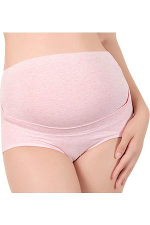 Newchic Cozy Cotton Maternity Panties High Waist Double Layer Supporting Underwear For Women