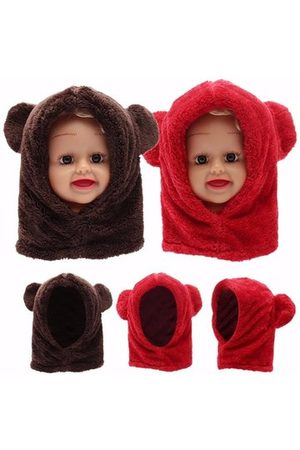 Newchic Baby Kids Cute Warm Winter Fluffy Bear Hat