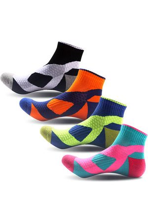 Newchic Fall Winter Outdoor Contrast Color Thick Sweat-absorbent Damping Sole Sock For Men