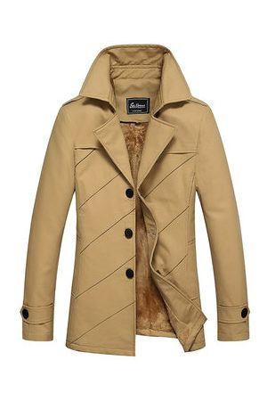 Newchic Men Trench Coats - Mens Thicken Warm Trench Coats