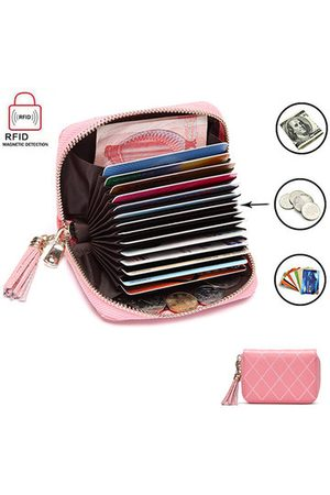 Newchic Women Wallets - RFID Antimagnetic Woman Card Storage Bag 15 Card Holders Cow Leather Purse Wallet