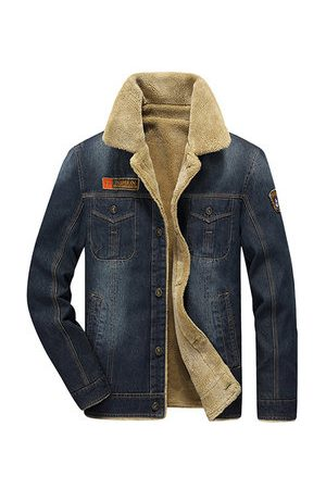 Newchic Winter Casual Thicken Warm Denim Jacket