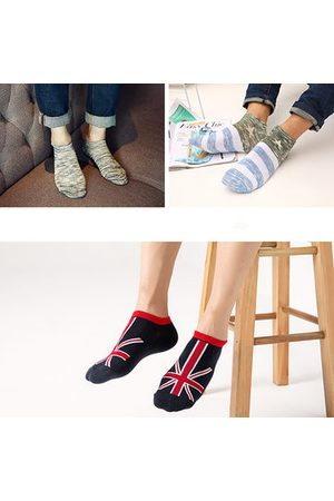 Newchic Fancies Elasticized Reinforced Various Styles 5 Pairs Set Low cut Casual Socks For Men