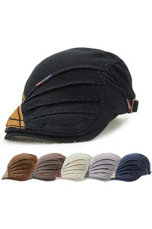 Newchic Men Hats - Men Retro Cotton Beret Cap Casual Outdoor Sun Visor Forward Hat