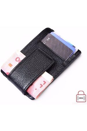 Newchic RFID Antimagnetic Woman Man Purse Wallet Cow Leather Card Wallet 3 Card Holders