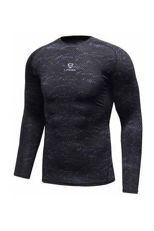 Newchic Sport Bodybuilding Breathable Tops Quick-drying Elastic Tight Long Sleeve T-shirt for Men