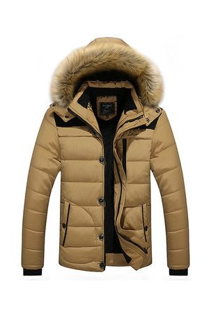 Newchic Men Winter Jackets - Plus Size Hooded Jacket