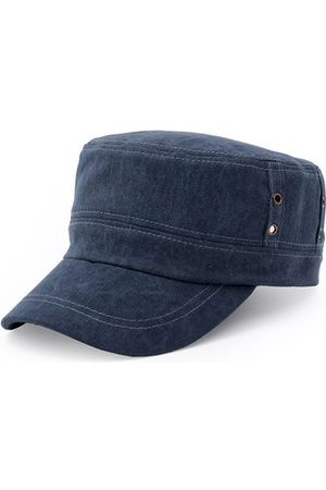 Newchic Men Cotton Washed Airhole Stitching Visors Flat Cap Casual Climbing Military Army Baseball Hats