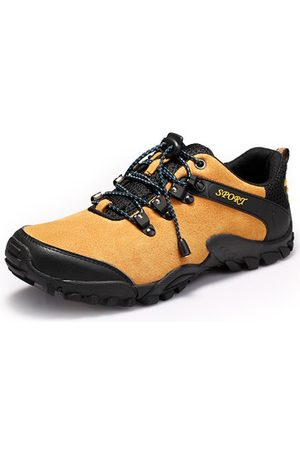 932a5ceaf756 Newchic Men Breathable Suede Non-slip Lace Up Outdoor Hiking Sneakers