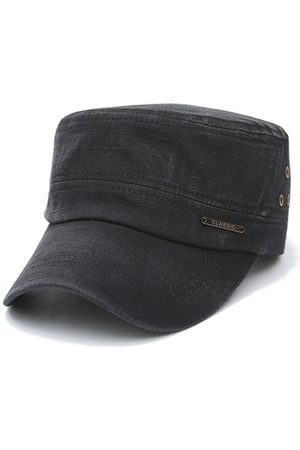 Newchic Men Cotton Flat Vintage Washed Army Cap Casual Airhole Stitching Visors Baseball Hat Adjustable