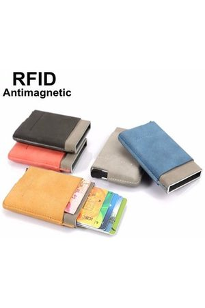 Newchic Women Wallets - RFID PU Leather Stainless Steel Card Holder Cardcase