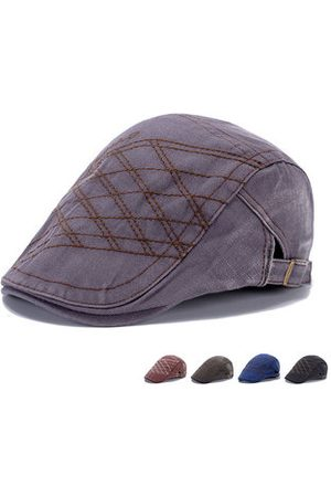 Newchic Men Hats - Men Denim Washing Beret Cap Casual Outdoor Sun Visor Peaked Hat